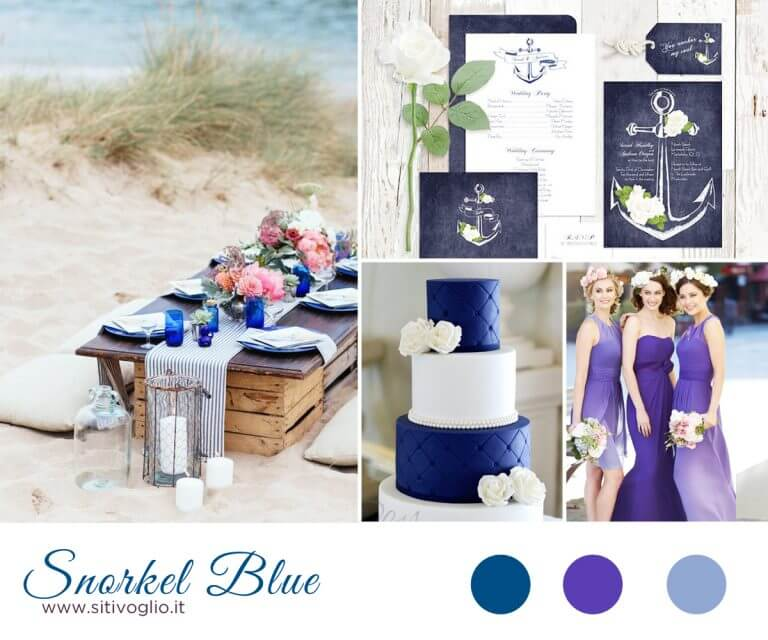 Inspiration Board: Snorkel Blue Ispirazioni  Partecipazioni e inviti Matrimoni a tema Mare Inspiration board consigli