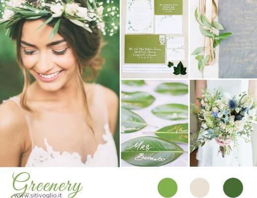 Greenery per una inspiration board natural chic! Ispirazioni  Matrimoni a tema Inspiration board consigli