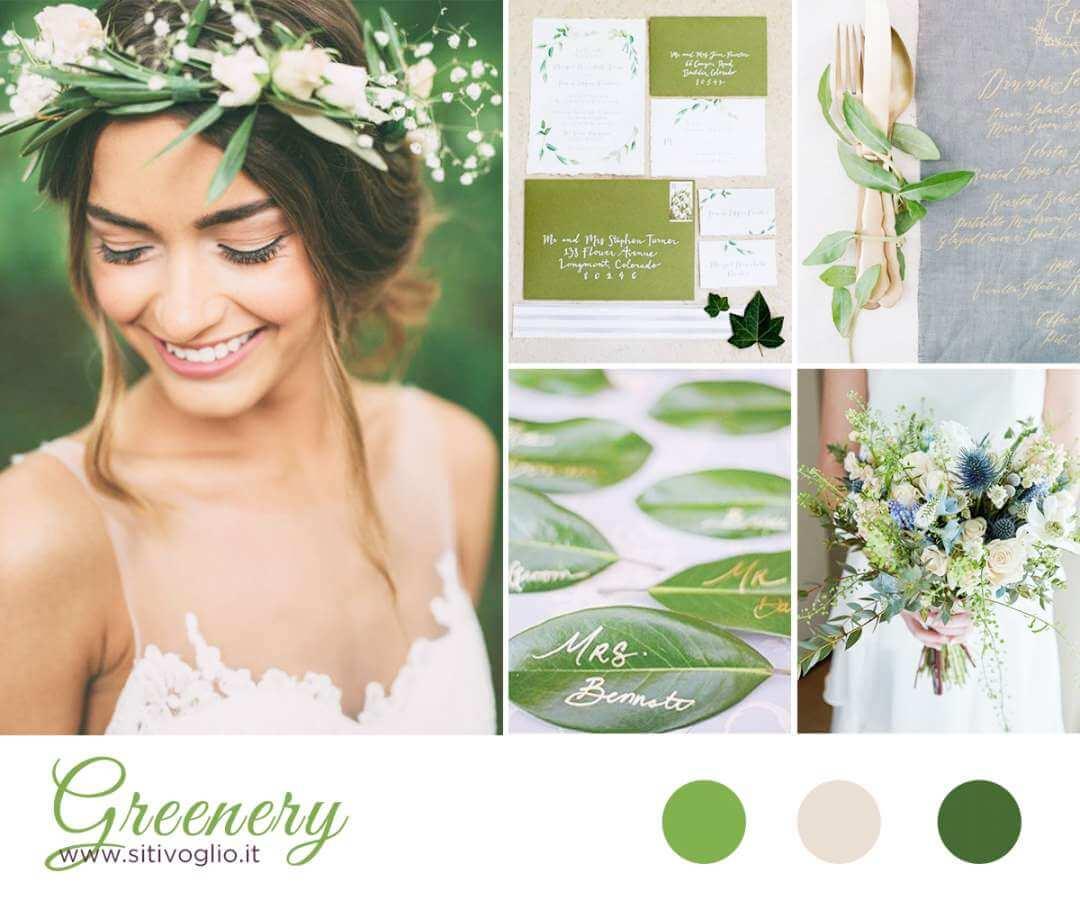 Segnaposto Matrimonio Naturale.Greenery Per Una Inspiration Board Natural Chic