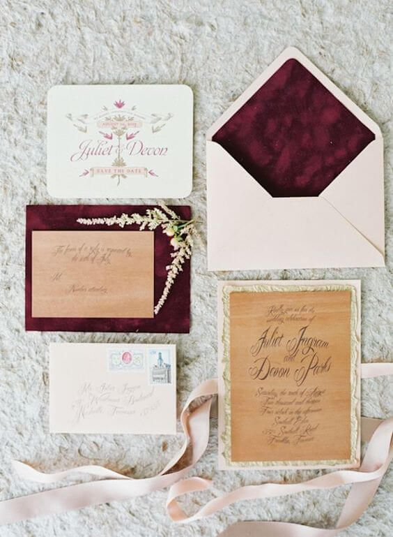 Burgundy,  Navy e Blush  per una inspiration board autunnale. Featured Ispirazioni  Matrimoni a tema Inspiration board Decorazioni