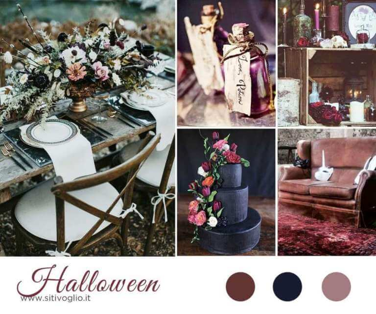 Inspiration board Halloween Featured Ispirazioni  Matrimoni a tema Inspiration board