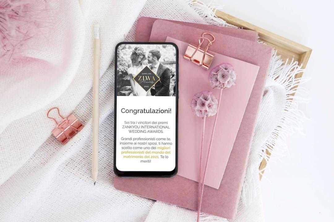 Vincitrice premio ZIWA Zankyou 2021 Featured  ZIWA Zankyou MIGLIOR WEDDING PLANNER 2021